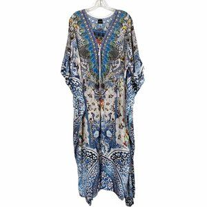 SAKKAS Maxi Caftan Dress Embellished Rhinstones